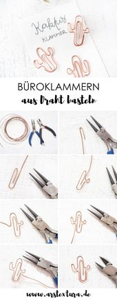 Make paper clips yourself ars textura – DIY blog