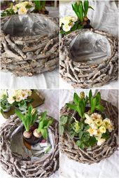Décoration de printemps bricolage vous-même faire la décoration de printemps pour la desk. Idée déco avec panier Ch … – Hit Photograph