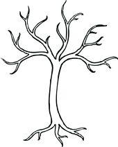 Coloring Bare Tree Clip Art Vector Clip Art Online Royalty Free Tree Coloring Page Bare Tree Tree Crafts