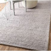 Makenzie Hand-Braided Wool Light Gray Area Rug