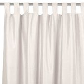 White And Silver Embroidered Curtain