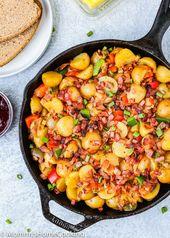 Patatas de desayuno de tocino y jamón de cocción lenta   – slow cooker