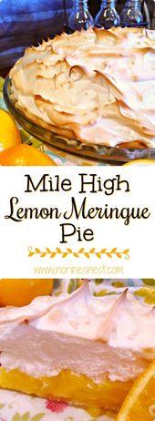 Mile High Lemon Meringue Pie | Norines Nest