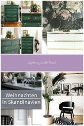 Layering Chalk Painted Dresser – Collage | Salvaged Inspirations #Dekoration kom…