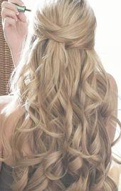 68 Einfache halbe bis halbe bis Hochzeitsfrisuren Frisur, die meine Tochter für ihre Hochzeit getragen hat, halbe bis halbe bis Hochzeitsfrisuren #Cute #Videos #Curly # ...