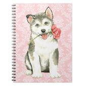 Valentine Rose Malemute Notebook   Zazzle.com