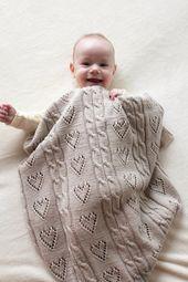 Baby Blanket Für diese Baby-Decke sind weich und dünn 100 % Merino Wolle Garn verwendet. Es...