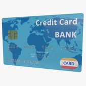 Credit Card Blue 3D Model #AD ,#Card#Credit#Model#Blue