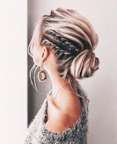 Elegant Prom Updo wedding hairstyles for medium and long hair; trend