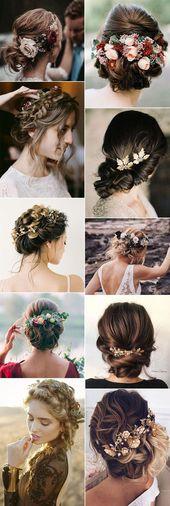 18 belles coiffures de mariage d'automne qui ravissent – #spirit #weddingfrisure …   – frisuren