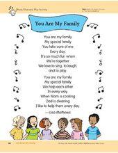 Alles über meine Familie: Aktivitäten im Freien, Gesang und dramatisches Spielen   – Families
