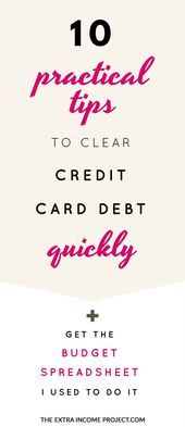 10 Practical Tips To Clear Credit Card Debt Quickly Credit Card Debt Payoff Ideas Of Credit Card D Budget Template Free Credit Card Hacks Credit Cards Debt