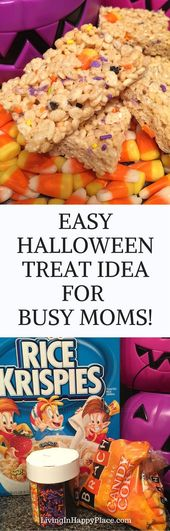 23 Ideas Party Snacks Easy Cheap Simple Halloween Treats #halloweenricekrispietr…