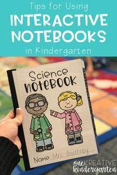 Tips for Using Interactive Notebooks in Kindergarten | One Kreative Kindergarten