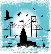 Istanbul City Vector Art Stock Vector (Royalty Free) 122791036