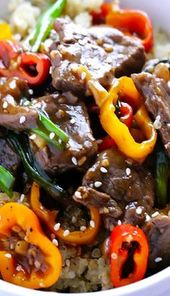 Dieses Rezept für Easy Pepper Steak ist in 30 Minuten einsatzbereit und …