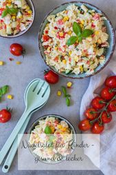 Pasta salad for children – healthy and delicious   – Kochen
