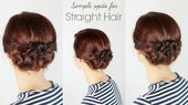 Elegant Straight Hair Updos