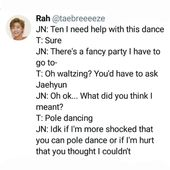 jeno sweetie, why are you shocked ten can pole dance? im sure he was voted rhe most lilely to be able to