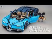 LEGO Technic 42083 Bugatti Chiron RC Mod & Motortausch – YouTube – #amp #Bugatti …   – lego illustration
