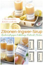Zitronen-Ingwersirup: Zaubersaft gegen Erkältung