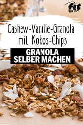 Vanilla granola cashew with coconut chips recipe – FIT FOR FUN