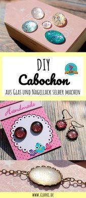 Make cabochon jewelry yourself: gemstones made of glass & nail polish