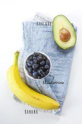 5-Minute Banana, Blueberry + Avocado Baby Food Puree  – Averi ❤️