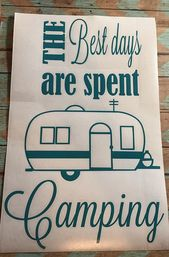 Camping Decal; Happy Camper; Camping Decor; Camping Signs; Camper Decor; Camper Sign; Camper Decal; Personalized Camper, RV