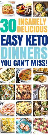 ¡30 de las MEJORES recetas de cena keto que te ENCANTARÁ! Fácil bajo ca …
