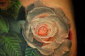 Rose mit Wasserfarben – Technik tätowieren – Tattoo – #mit #rose #Tätowieren #… – Tattoo