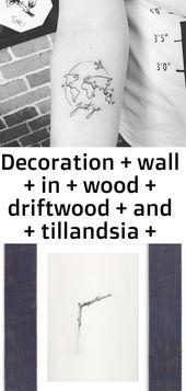 Dekoration + wand + aus + holz + treibholz + und + tillandsia + von + l & # 39; atelier mehr corinne