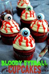 Diese blutigen Augapfel-Cupcakes sind blutig und gruselig, aber …