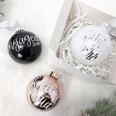 Mrs Christmas Ornament Gift Set, Family Christmas Ornament, Mr & Mrs Keepsake ornament, Couples Ornament, Wedding Holiday Ornament