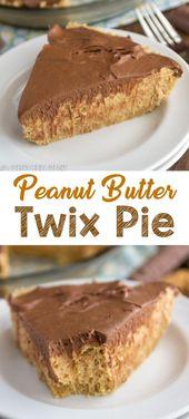 Peanut Butter Twix Pie ist ein einfaches No-Bake-Pie-Rezept, das wie ein Twix schmeckt! EIN … – Essen & Trinken – Gesund und lecker?! eat and drink – healthy and tasty!