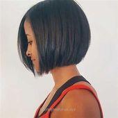 Incredible Dark sleek bob haircut, no stacked back… – #Bob #Dark #Haircut #Inc… – Frisuren Dutt