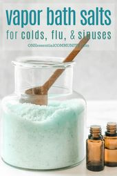 Vapor Bath Salts for Colds & Flu