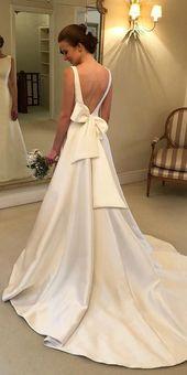 27 besten Brautkleider zum Feiern. Trendy einfache Brautkleider mit offenem ...