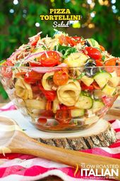 Pizza Tortellini Salad is a like a party in your mouth! It's a blend of your…