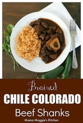 Braised Chile Colorado Beef Shanks is a delicious dish that is deep in flavor. I…  – Mexican Food