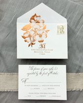 Autumn Copper Foil Wedding Invitations By Charm Fig Envelope Loveliness Pinterest Weddings And