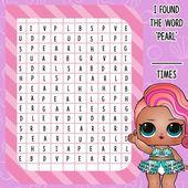 """Wie oft kannst du das Wort """"Perle"""" finden? #lolsurprise #pearlsurprise #pearl ….. – LoL Dolls"""