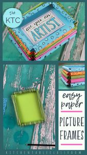 Easy Paper Picture Frames