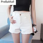 $ 14.81 Jeans & Jeans Elegante Frauen in weißen Jeansshorts   – Pantalones Vaqueros Mujer