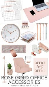 Rose Gold Desk and Office Accessories You Will Absolutely Love