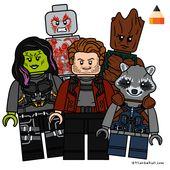 Wächter der Galaxie Lego | Lego Minifiguren zeichnen | Zeichnende Wächter …   – Crafting