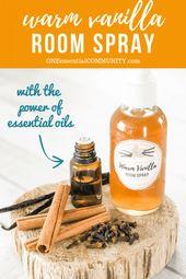 Selbstgemachtes warmes Vanille-Raumspray {mit ätherischem Öl}   – essential oils