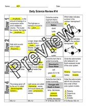 Science Daily Review Worksheet & Quiz Bundle – 4th & 5th Grade SOL's 4.1-5.7