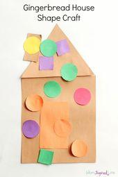 Gingerbread House Shape Craft