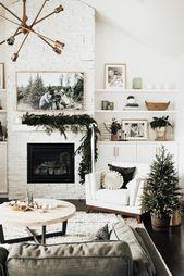 Photo of Minimale Weihnachtsdekoration + DIY Girlande – Minimale Weihnachtsdekoration + DIY Mädchen …
